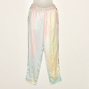 Wildfox pastel watercolor tie dye jogger pants